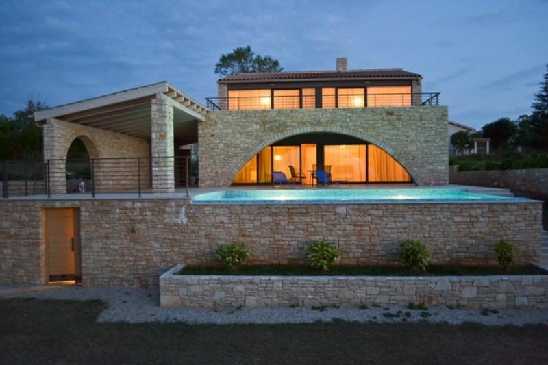 Luxury Modern Mediterranean Stone Villa With Swimming Pool Is Placed In The Heart Of Istria Ruzici Near Labin